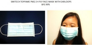 SMITECH PM2.5 4 PLY FACE MASK WITH ELASTIC EARLOOPS